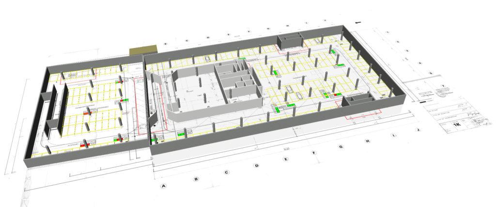 Visualisierung einer Tiefgarage auf 3D-Basis mit den Möglichkeiten des Building Information Modeling